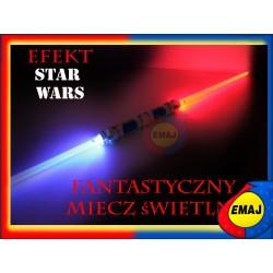 PODWÓJNY MIECZ ŚWIETLNY STAR WARS światło 2w1 EMAJ