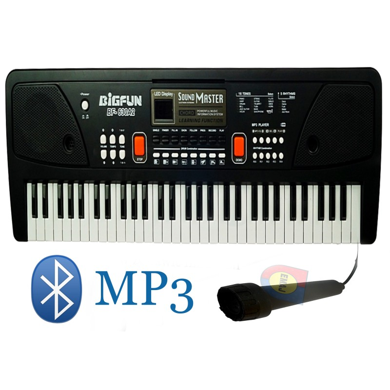 KEYBOARD ORGANY PIANINO MIKROFON MP3 E0683 EMAJ
