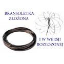 BRANSOLETKA METALOWA SPRĘŻYNKA FLOW RINGS 15CM E0609 EMAJ