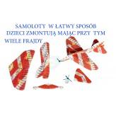SAMOLOT STYROPIANOWY EDUKACYJNY