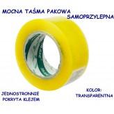 TAŚMA KLEJĄCA TRANSPARENTNA 5CM/155M E0698 EMAJ