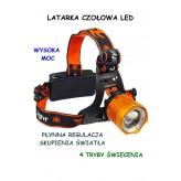 CZOŁÓWKA LED LAMPKA NA GŁOWĘ NA GUMIE E0695 EMAJ