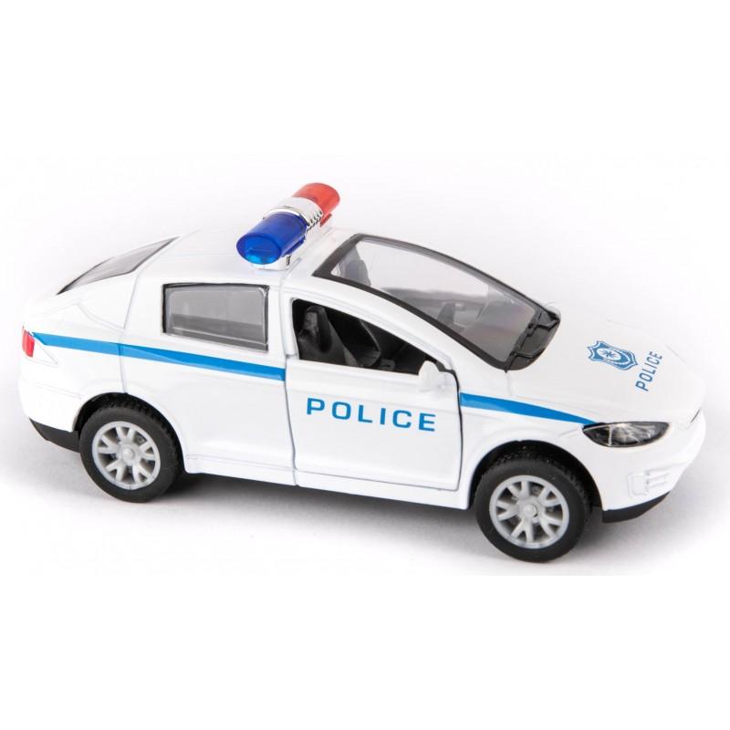 AUTO METALOWE RESORAKI POLICJA Z WŁASNYM NAPĘDEM PULL BACK EMAJ