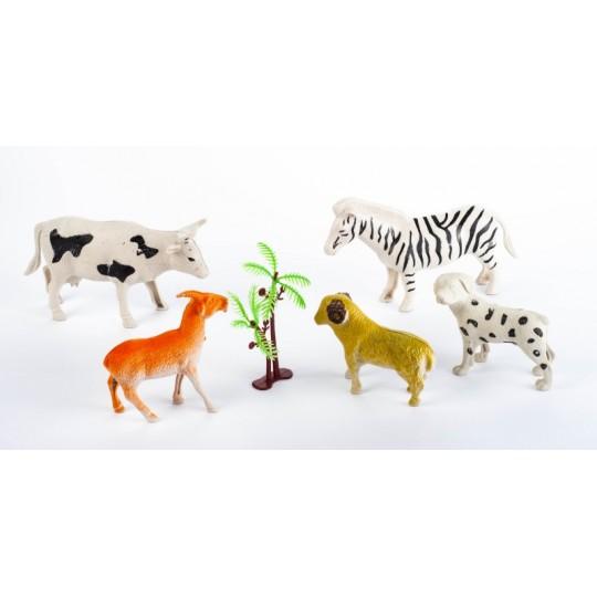ZESTAW ZWIĘRZĄTEK farma ŚWIAT ZWIERZĄT krowa EMAJ